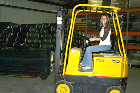 Stacey Spahr: Office Manager and Forklift Operator